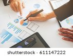 business concept. business... | Shutterstock . vector #611147222