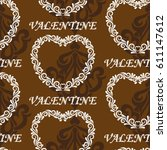valentine's day  the human...   Shutterstock .eps vector #611147612