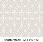 minimal sacred geometry graphic ... | Shutterstock .eps vector #611149742