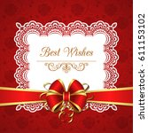 greeting card template with...   Shutterstock .eps vector #611153102