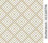 geometric minimal square grid... | Shutterstock .eps vector #611160746