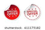 special offer sticker. business ... | Shutterstock .eps vector #611175182