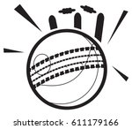 cricket ball icon illustration | Shutterstock .eps vector #611179166