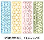 decorative geometric line... | Shutterstock .eps vector #611179646