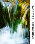 Fast Flowing Water In The...
