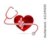 world health day. vector... | Shutterstock .eps vector #611194355