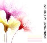 vector background with delicate ... | Shutterstock .eps vector #611201222