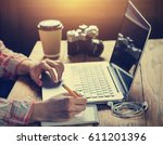young woman professionals... | Shutterstock . vector #611201396