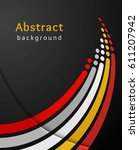 colored stripes with circles... | Shutterstock .eps vector #611207942