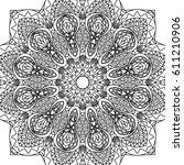 lacy seamless pattern. black... | Shutterstock .eps vector #611210906