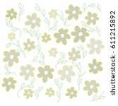 grey flowers of different size... | Shutterstock .eps vector #611215892