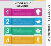 modern plant infographic... | Shutterstock .eps vector #611227706