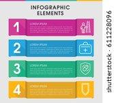 modern safety infographic... | Shutterstock .eps vector #611228096