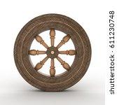 3d Illustration Of A Wooden...