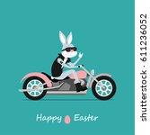 easter greeting card. easter...   Shutterstock .eps vector #611236052