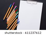 drawing picture mockup. artist... | Shutterstock . vector #611237612