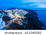 Fira Town Aerial Panoramic View ...