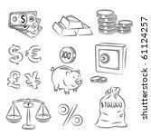 money sketch set | Shutterstock .eps vector #61124257