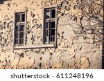 Old Peeling Yellow Wall With...