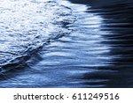 Waves In Beach At Nigth