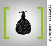 gel  foam or liquid soap.... | Shutterstock .eps vector #611262692