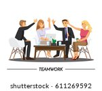 team teamwork  partnership... | Shutterstock .eps vector #611269592
