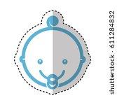 cute baby head icon vector... | Shutterstock .eps vector #611284832