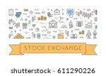 line web banner for stock... | Shutterstock . vector #611290226