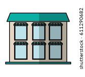 building exterior front... | Shutterstock .eps vector #611290682
