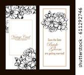 vintage delicate invitation... | Shutterstock .eps vector #611292746