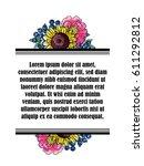 vintage delicate invitation... | Shutterstock .eps vector #611292812