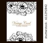 vintage delicate invitation... | Shutterstock .eps vector #611292842