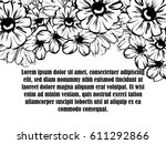 vintage delicate invitation... | Shutterstock .eps vector #611292866