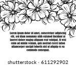 vintage delicate invitation... | Shutterstock .eps vector #611292902