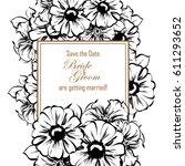 vintage delicate invitation... | Shutterstock .eps vector #611293652