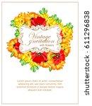 romantic invitation. wedding ... | Shutterstock . vector #611296838