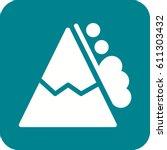 snow avalanche | Shutterstock .eps vector #611303432