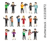 journalist character design... | Shutterstock .eps vector #611310872