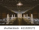 wedding venue barn industrial... | Shutterstock . vector #611320172