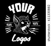 angry bat logo design   Shutterstock .eps vector #611330882