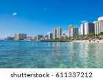 honolulu  oahu  hawaii  ... | Shutterstock . vector #611337212