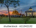 ananta samakhom throne hall... | Shutterstock . vector #611342132