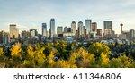 downtown calgary skyline on a... | Shutterstock . vector #611346806