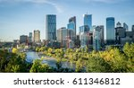 downtown calgary skyline on a... | Shutterstock . vector #611346812