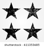 Set Of Grunge Stars.vector...