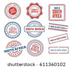 set of various made in south... | Shutterstock .eps vector #611360102
