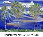 Five Summer Birches