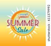 summer sale banner design... | Shutterstock .eps vector #611379992