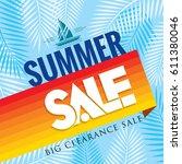 summer sale banner design... | Shutterstock .eps vector #611380046