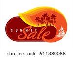 summer sale banner design...   Shutterstock .eps vector #611380088